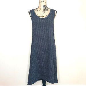 FLAX Linen Striped Midi Dress (P)